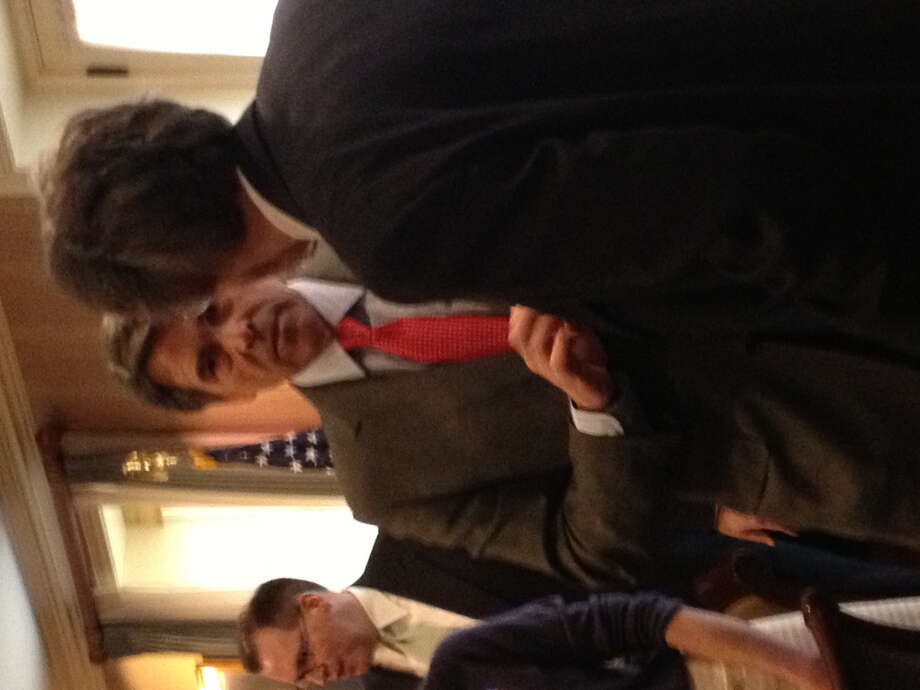 Gov. Rick Perry spoke at the Republican National Club on Capitol Hill. Afterward he spoke to those in attendance.