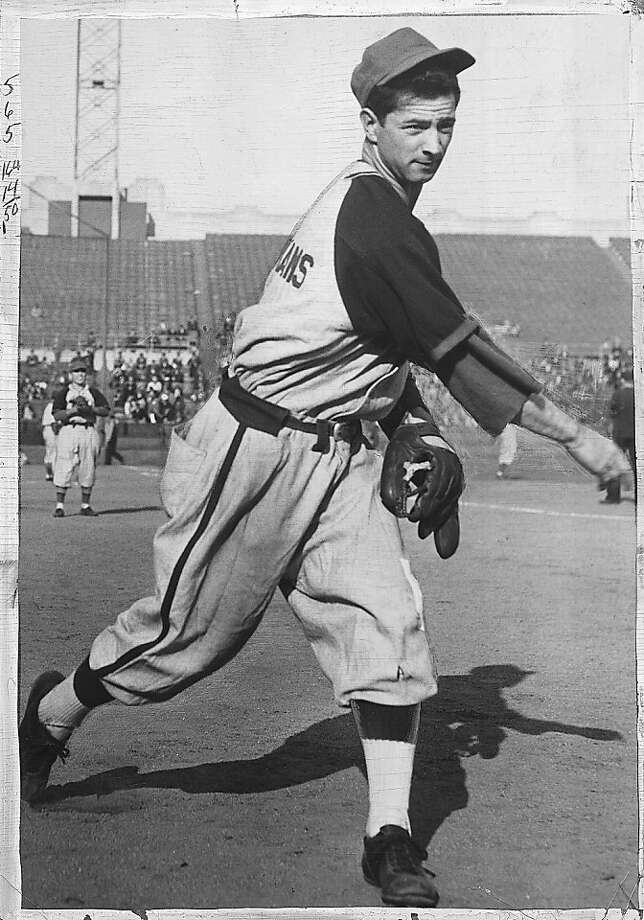Marino Pieretti in a 1943 shot at Seals Stadium. Photo: San Francisco Chronicle Library