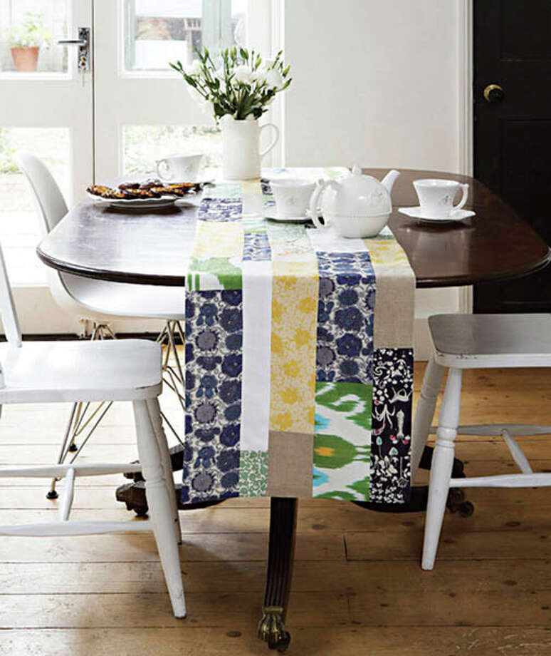 Tablerunners: A quilted tablerunner adds interest to a table while allowing the tabletop to still be front and center.