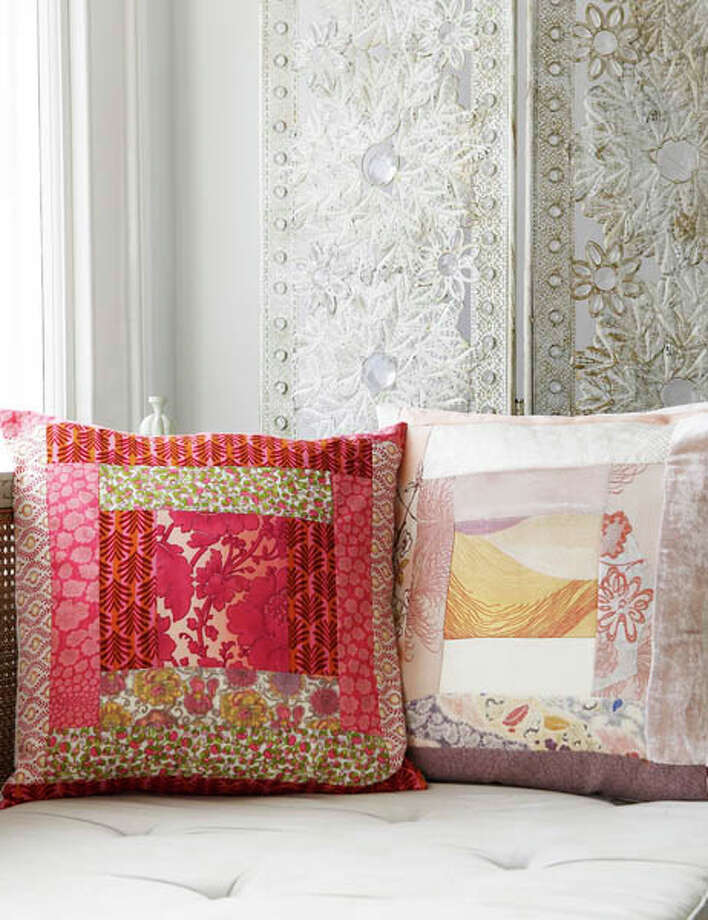 Pillows: Want to start smaller? Try making a pillow as a housewarming gift.