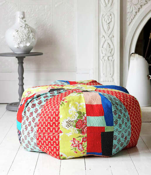 Pouffe: Why use a chair when you can crate the colorful pouffe?