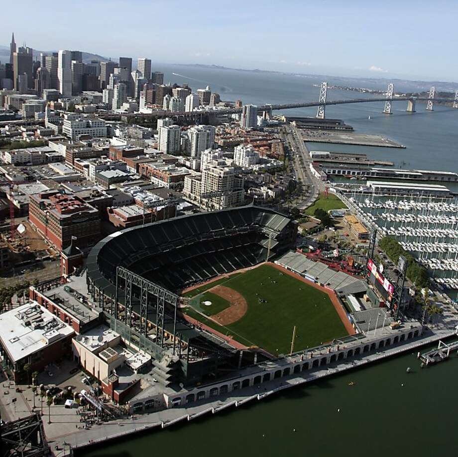 Pacific Bell Park opened in 2000 and underwent several notable name-changes. Photo: Frederic Larson, The Chronicle