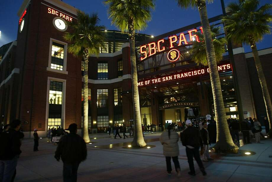 "When Pacific Bell Park changed its name to SBC Park, some fans joked it stood for ""some big corporation."" Photo: Liz Hafalia, SFC"