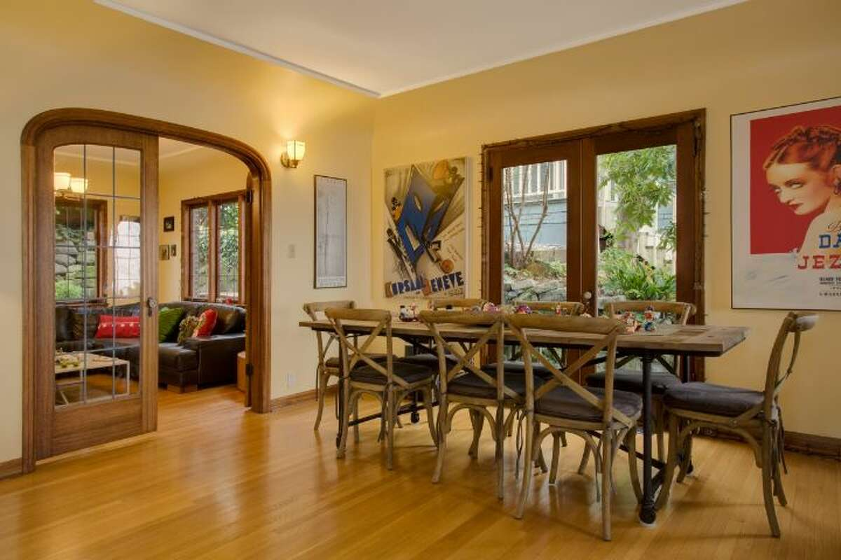 Dining room of 327 Lake Washington Boulevard. The 2,560-square-foot brick house, built in 1928, has four bedrooms and 2.25 bathrooms -- including a master suite with vaulted ceilings and a wall of windows -- a family room, a rec room, exposed wood moldings and doors, a deck, a patio and an outdoor hot tub on a 5,362-square-foot lot. It's listed for $995,000.