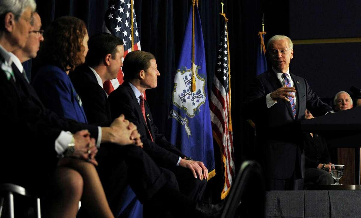 Vice President Joe Biden spoke at a conference on gun violence at Western Connecticut State University in Danbury, Conn., Thursday, Feb. 21, 2013.
