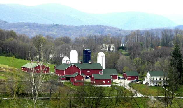 Happy Acres Farm in Sherman, at the intersection of Anderson Road and Route 39 North, as seen from Farm Road in April, 2010 happily is now under the town's auspices under an agreement with longtime owner and former first selectman Tony Hapanowich. Photo: Norm Cummings