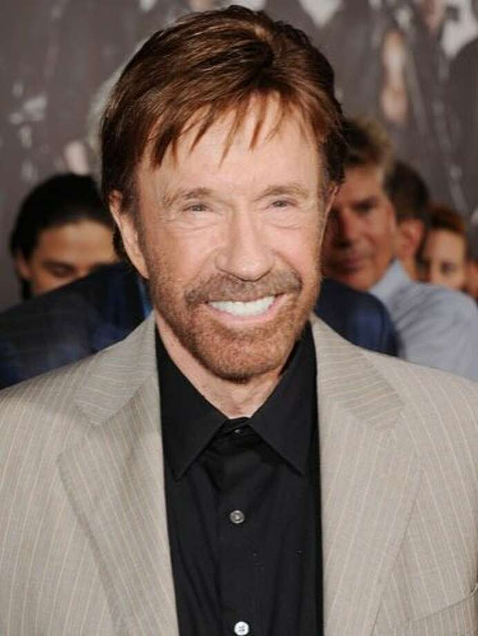 Chuck Norris, 72Did you know that Chuck Norris finished The Never-Ending Story? And that he invented gravity? Well, he may not have done everything the Internet says he has, but there's a million other reasons why the man who played Walker, Texas Ranger has reached mythical status.