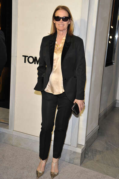 Lisa Love stays cool with her shades on at Tom Ford's cocktail event.