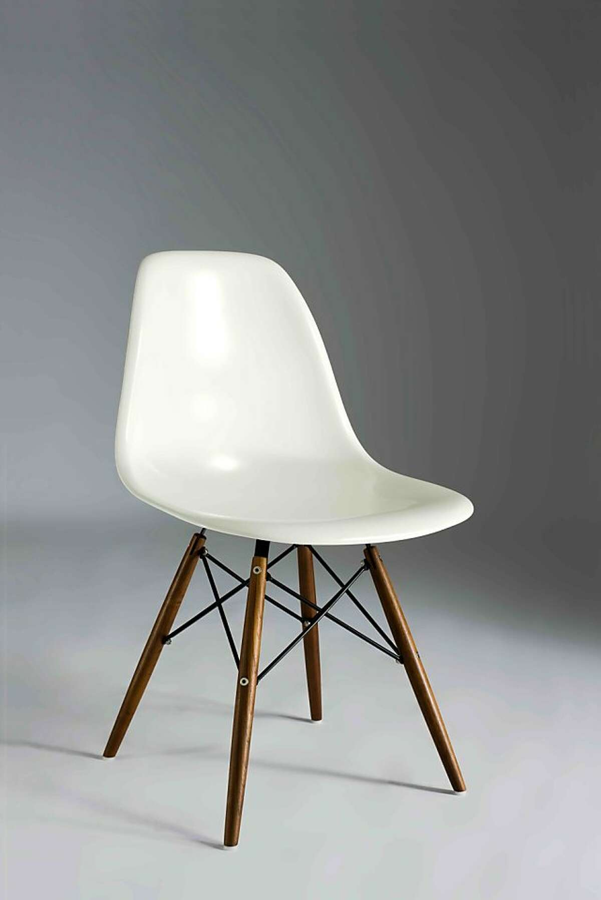 Less: $275 Molded Fiberglass Side Chair with Wood Legs at Inmod (inmod.com)
