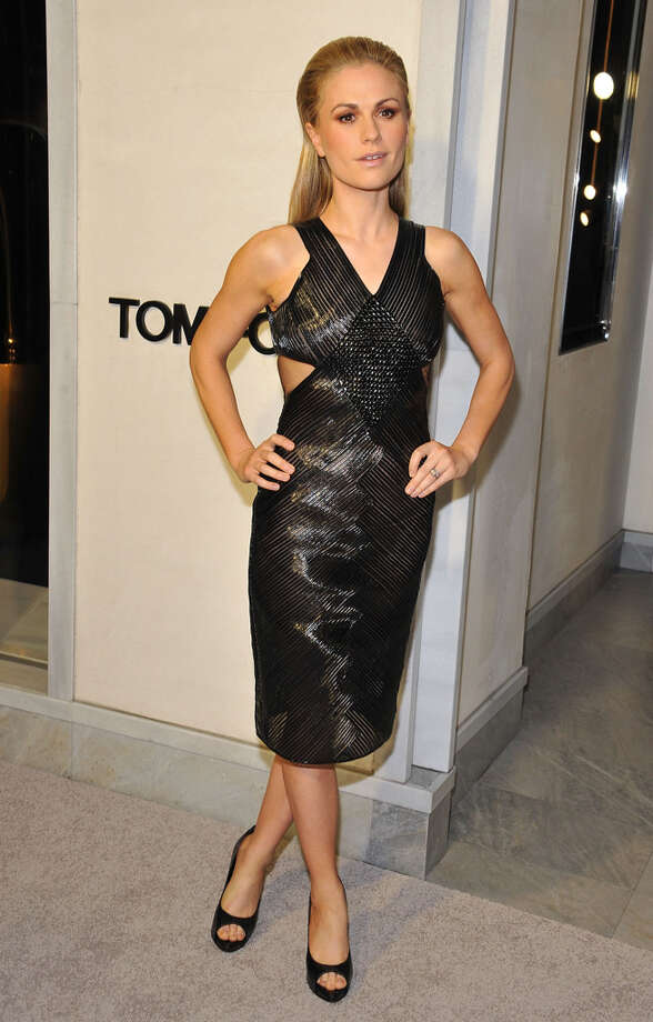Actress Anna Paquin shows off a slim new look at TOM FORD. Photo: Angela Weiss, Getty Images / 2013 Getty Images