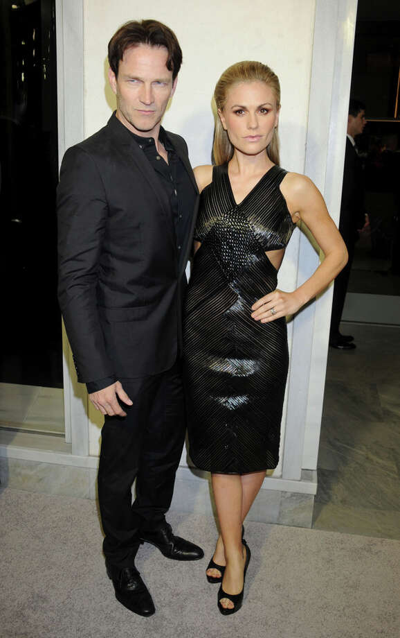 Actors Stephen Moyer and Anna Paquin arrive in matching black at TOM FORD. Photo: Gregg DeGuire, WireImage / 2013 Gregg DeGuire