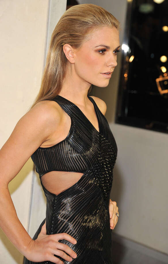Actress Anna Paquin looks sleek in black after giving birth to twins in September. Photo: Angela Weiss, Getty Images / 2013 Getty Images