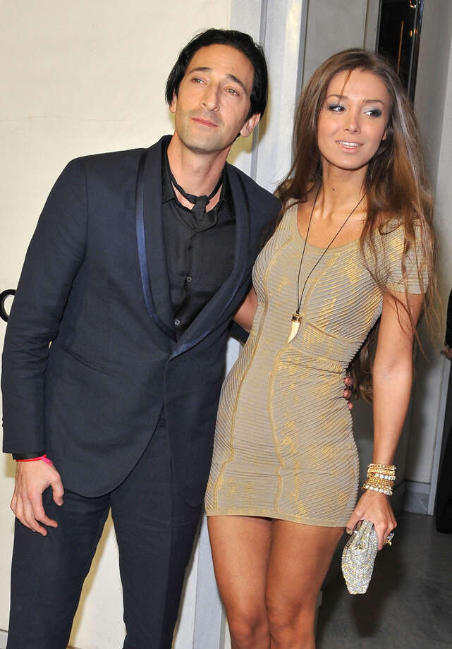 Actor Adrien Brody and girlfriend Lara Lieto arrive at TOM FORD. Photo: Angela Weiss, Getty Images / 2013 Getty Images