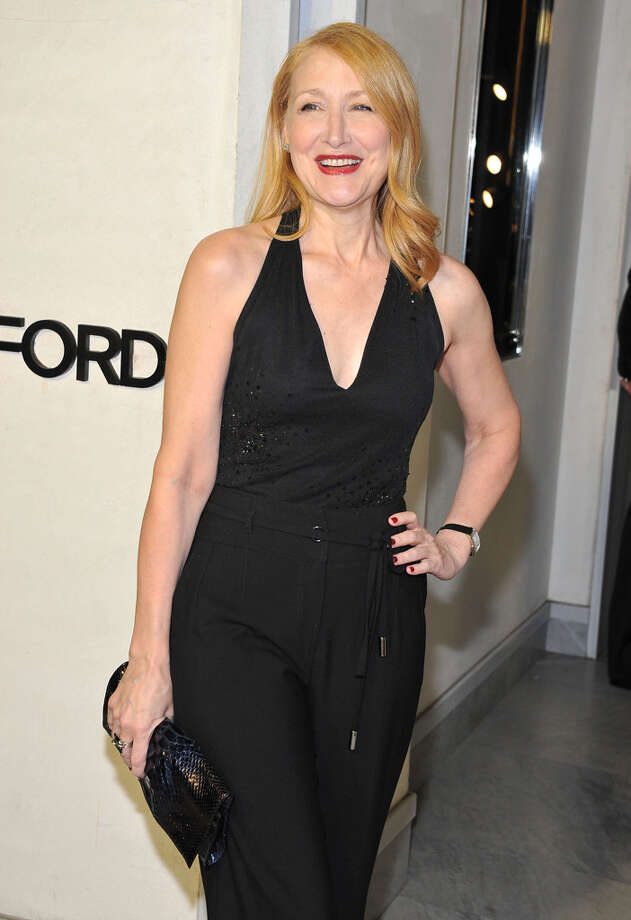 Actress Patricia Clarkson is all smiles in all black at TOM FORD. Photo: Angela Weiss, Getty Images / 2013 Getty Images