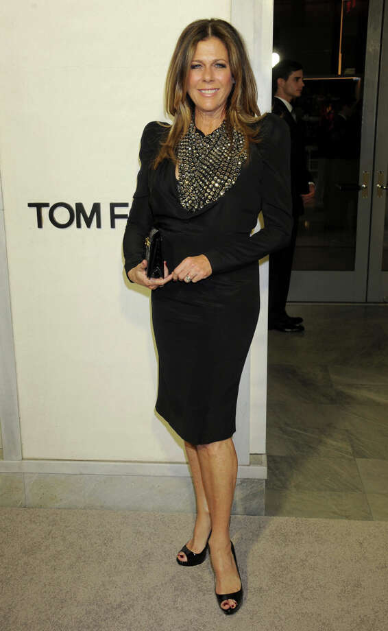Rita Wilson adds a pop of metallic to her look at TOM FORD. Photo: Gregg DeGuire, WireImage / 2013 Gregg DeGuire