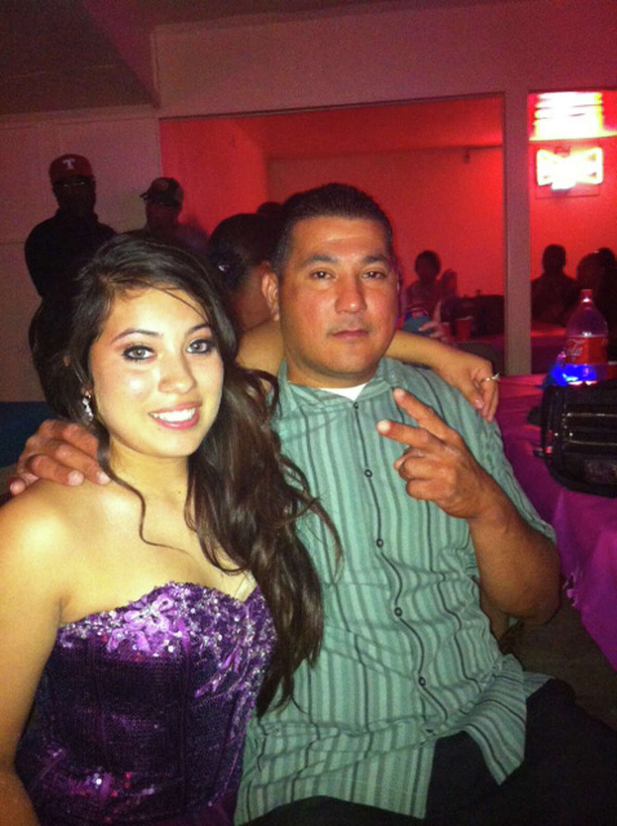 Gabriella Lerma, left, and her father, Paul Lerma.
