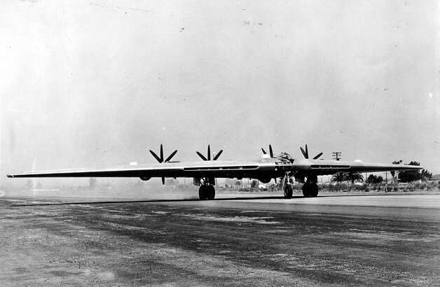 The XB-35 was a flying wing propeller-engine bomber that Northrop got a contract to build in 1941. Photo: U.S. Air Force
