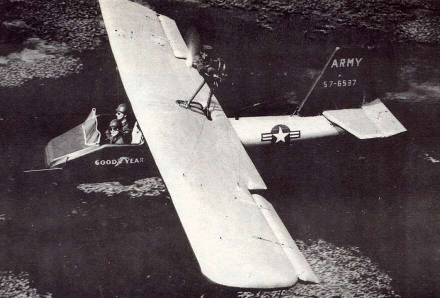 The Goodyear Inflatoplane was what it sounds like: an inflatable airplane. Designed in the 1950s, th