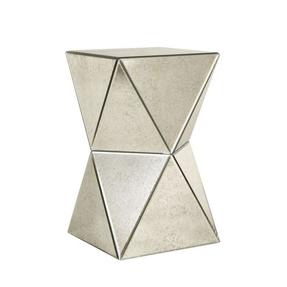 West Elm's Faceted Mirror Side Table offers a stylish reflection. Photo: West Elm
