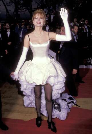 Geena Davis wears a mullet monstrosity. Photo: WireImage