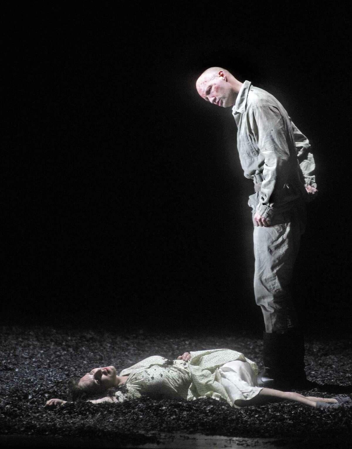 """Wozzeck's (Roman Trekel) jealousy drives him to kill the woman he loved in """"Wozzeck."""""""