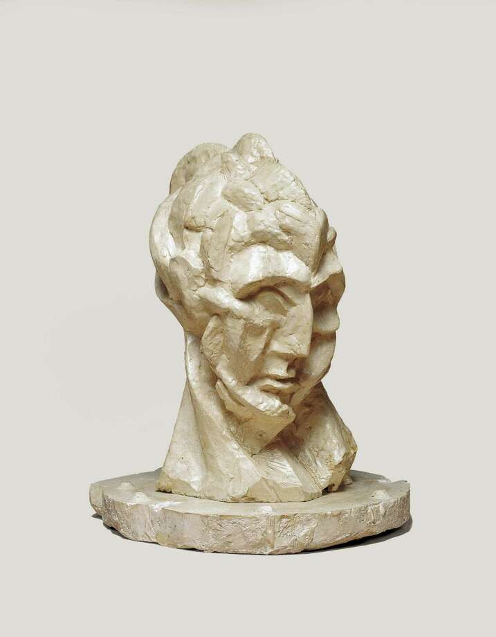 Pablo Picasso, Head of a Woman (Fernande), 1909 , plaster, Raymond and Patsy Nasher Collection,