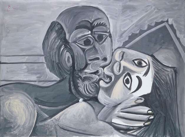 Pablo Picasso, The Kiss, 1969, oil on canvas, Private Collection, New York.  2013 Estate of Pablo