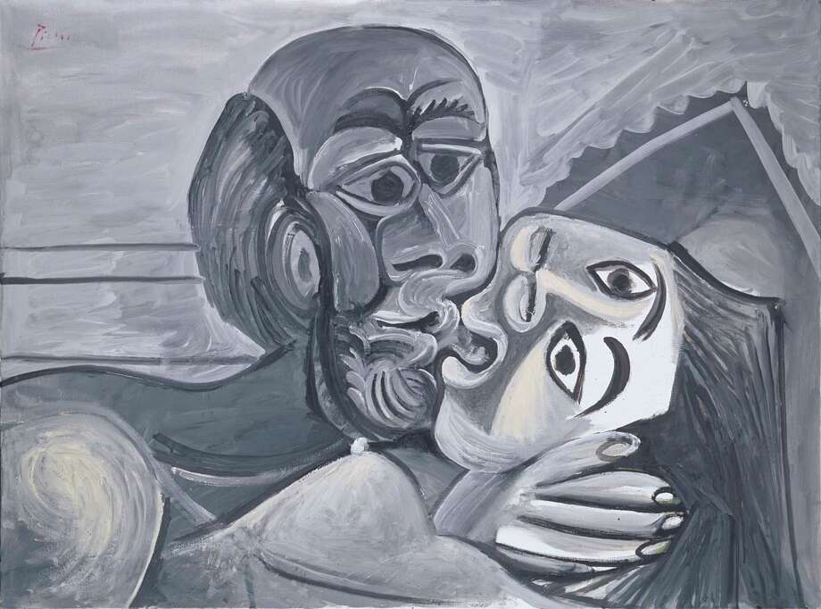 Pablo Picasso, The Kiss, 1969, oil on canvas, Private Collection, New York.  2013 Estate of Pablo Picasso / Artists Rights Society (ARS), New York Photo:  2013 Estate Of Pablo Picasso