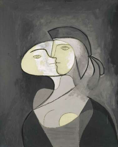 Pablo Picasso, Marie-Thérèse, Face and Profile, Paris, 1931, oil and charcoal on canvas, Private