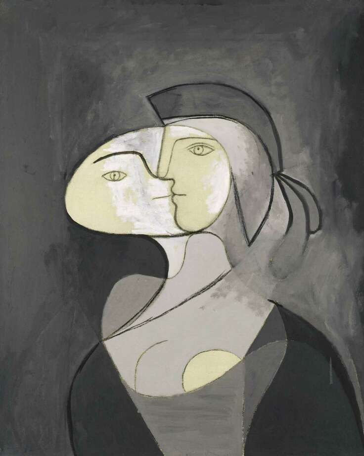 Pablo Picasso, Marie-Thérèse, Face and Profile, Paris, 1931, oil and charcoal on canvas, Private Collection.  2013 Estate of Pablo Picasso / Artists Rights Society (ARS), New York Photo:  2013 Estate Of Pablo Picasso