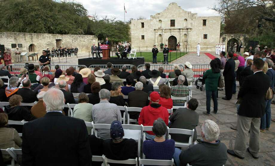 The William Barret Travis Letter, requesting help to defend the Alamo, returned to the Alamo for the first time since it was sent in 1836. Friday, Feb. 22, 2013. Photo: Bob Owen, San Antonio Express-News / © 2012 San Antonio Express-News
