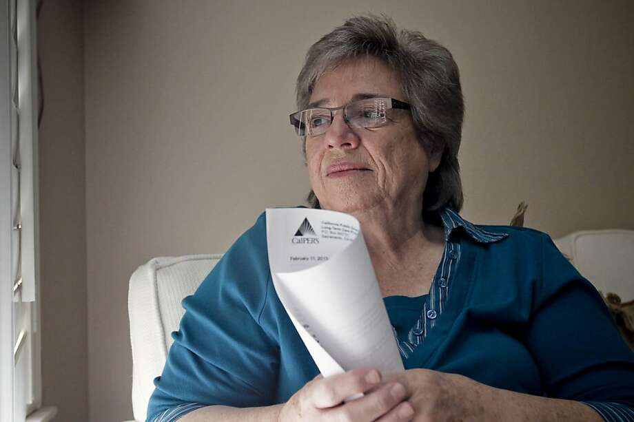 Marie Benedetto, a retired San Francisco math teacher, says CalPERS is increasing her insurance premium for long-term health care a whopping 85 percent. Photo: Michael Macor, The Chronicle