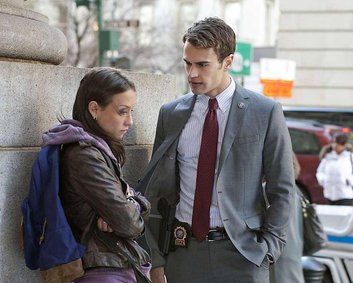 """Pilot"" -- Agnes (Stella Maeve), Walter Clark�'¢Â€Â™s (Theo James) younger sister discuss her dangerous behavior, in the new CBS drama GOLDEN BOY."