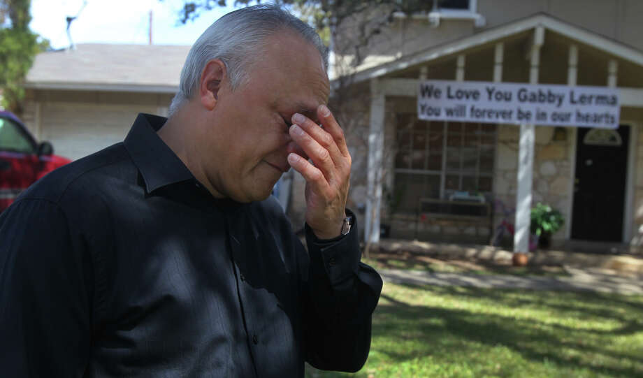 "Robert Contreras, grandfather of Gabriela Lerma, sheds tears Friday February 22, 2013 while remembering her. Lerma, a student at Brandeis High School, died this week in a fatal car crash. ""We had so many plans,"" Contreras said. Photo: JOHN DAVENPORT, San Antonio Express-News / ©San Antonio Express-News/Photo Can Be Sold to the Public"