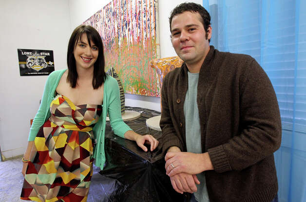 Alex and Ann Marie Comminos show their gallery in the Lone Star Art District on January 29, 2013. Photo: Tom Reel, San Antonio Express-News / ©2012 San Antono Express-News