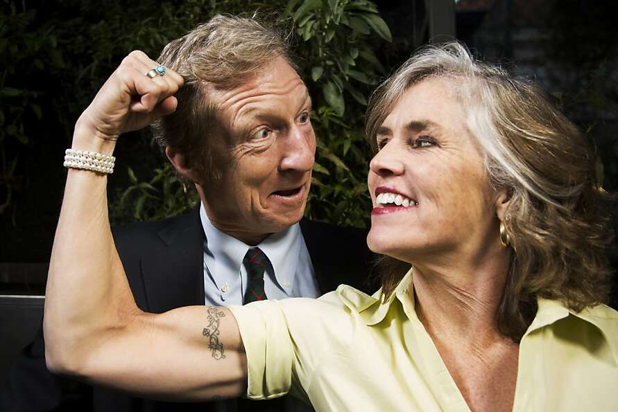 Tom Steyer and his wife,