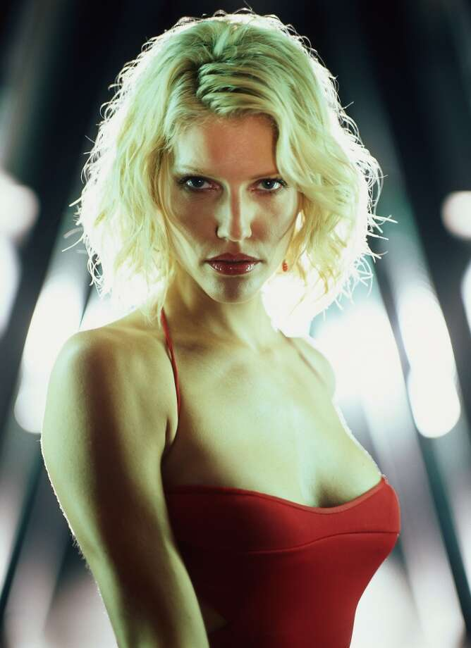 A Canadian model and actress, Tricia Helfer starred as seductive Cylon ''Number Six.''