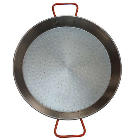 This paella pan, featuring traditional Spanish design, is by IMUSA and available at Target and Target.com. Photo: Contributed Photo