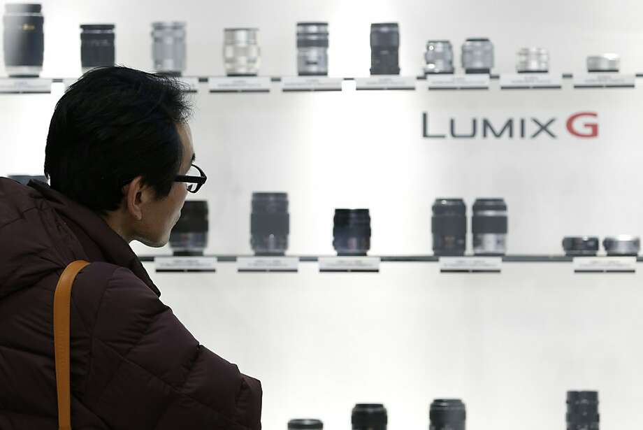 Lenses for Panasonic's Lumix G cameras are displayed at a show in Japan last month. Photo: Kiyoshi Ota, Bloomberg