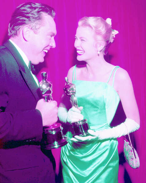 Grace Kelly and screenwriter George Seaton in 1955. They both received Oscars for the 1954 film The