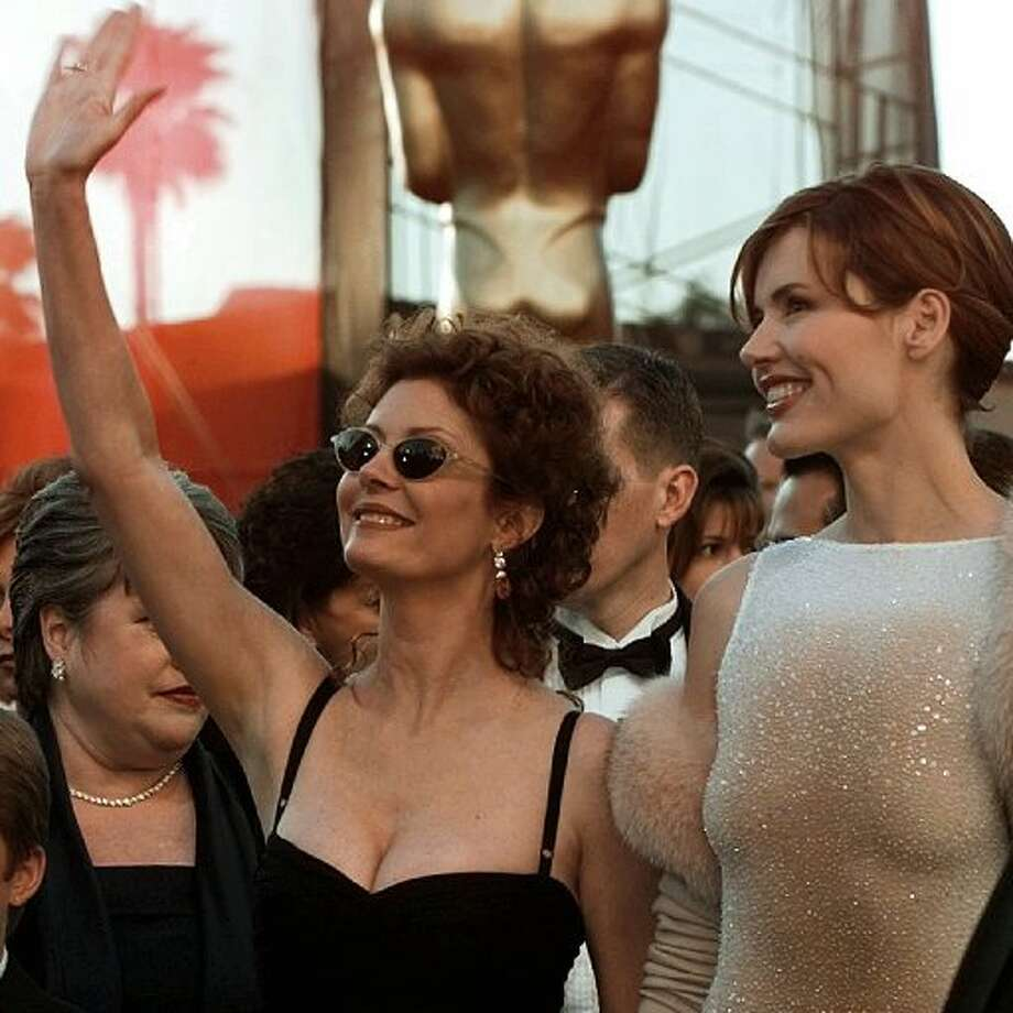 A salute to Susan Sarandon and Geena Davis (aka Thelma and Louise), seen here in 1998. These actresses always bring a dose of starpower and strength to the occasion.