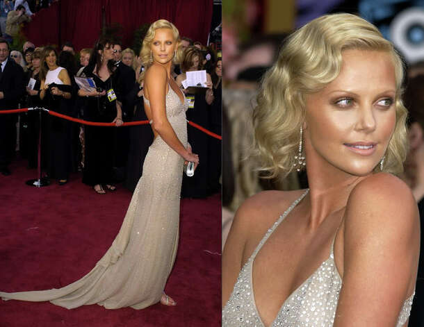 Charlize Theron was way ahead of the neutral trend in 2004 with this Gucci stunner.