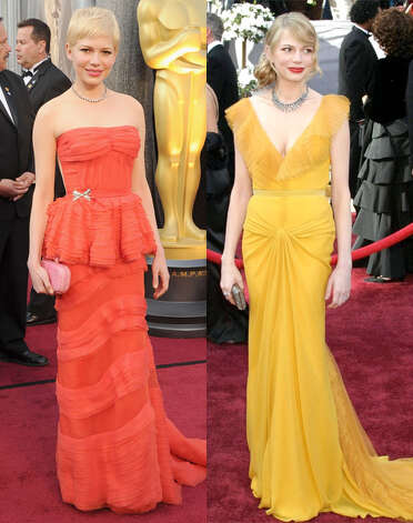 Michelle Williams put her mark on the red carpet in 2006 wearing a marigold Vera Wang dress paired with soft hair and a bold lip.