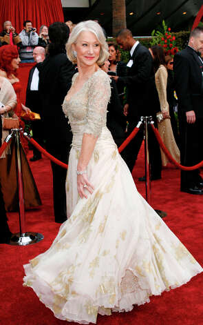 British actress Helen Mirren, who won best actress for The Queen, was appropriate regal in Christian Lacroix in 2007. Photo: Kevork Djansezian, AP / AP
