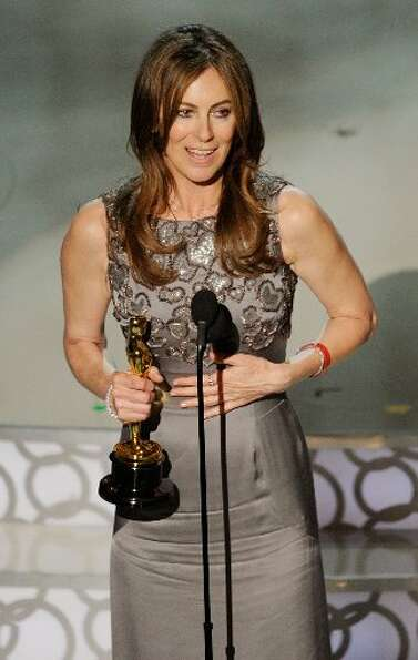 Director Kathryn Bigelow, who won best director in 2010. She wore a Yves Saint Laurent Edition Soir
