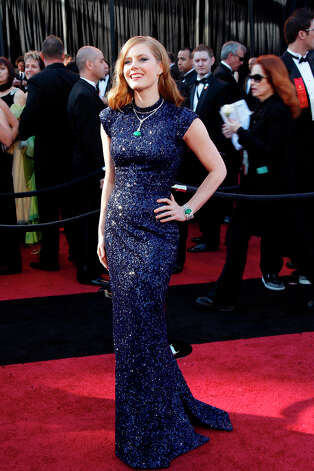 Amy Adams in L'Wren Scott in 2011, with jewels by Lorraine Schwartz. Photo: Kirk McKoy, MCT / Los Angeles Times