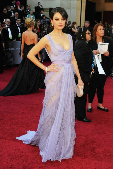 Mila Kunis in Elie Saab in 2011.