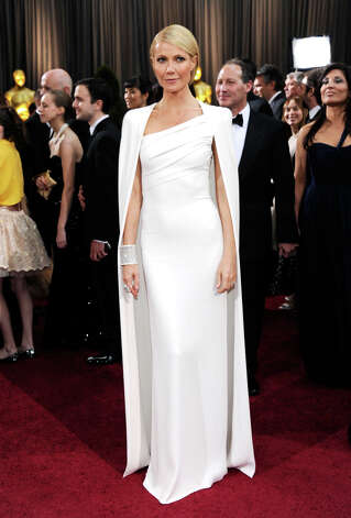 A grown-up Gwyneth Paltrow in 2012 in Tom Ford. The cape got mixed reviews. Photo: Ethan Miller, Getty Images / 2012 Getty Images