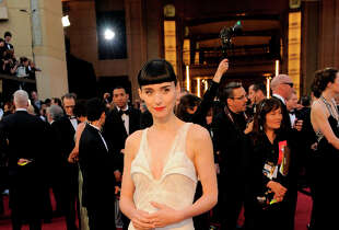 Rooney Mara in Givenchy in 2012.
