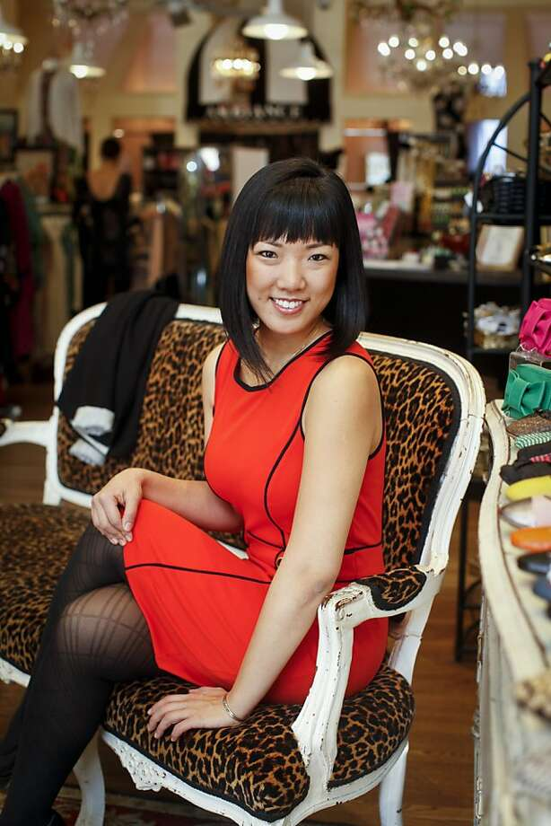 Lena Kwak of Cup4Cup counts Ambiance on Union Street, also shown below, among her favorite haunts in S.F. Photo: Russell Yip, The Chronicle